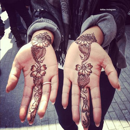 Flowery Henna Tattoo Design