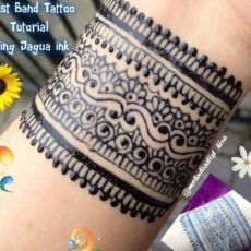 Diy henna designs how to apply easy simple new stylish wrist band