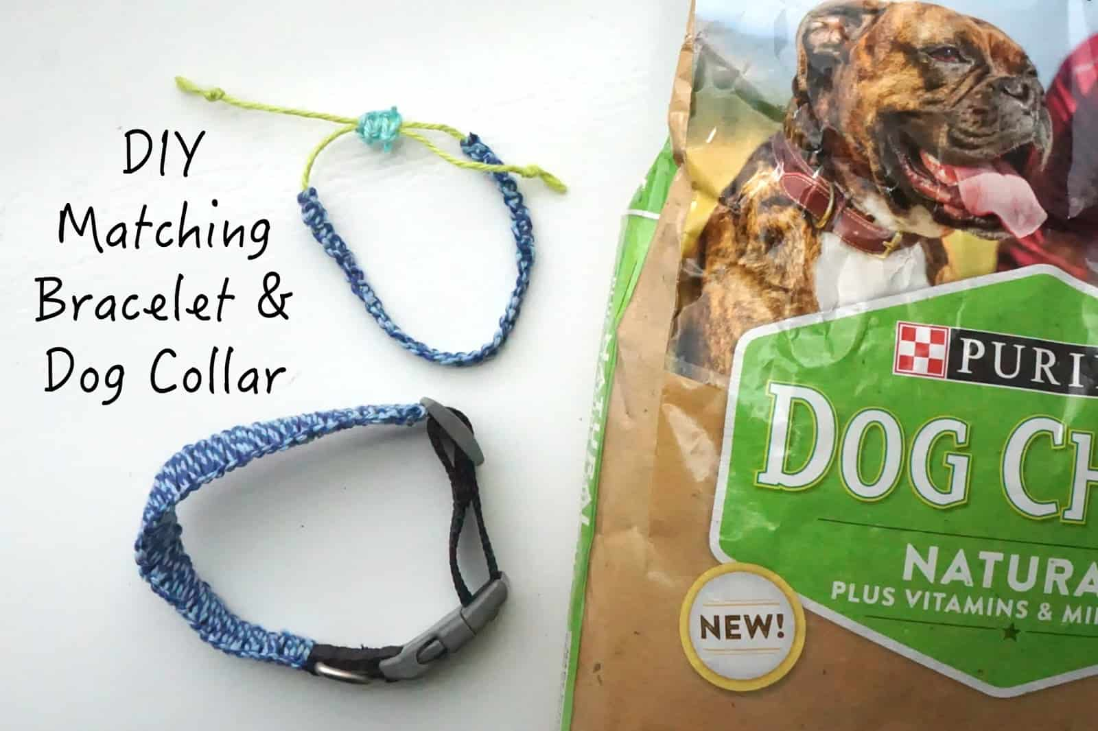 Matching diy bracelet and dog collar set