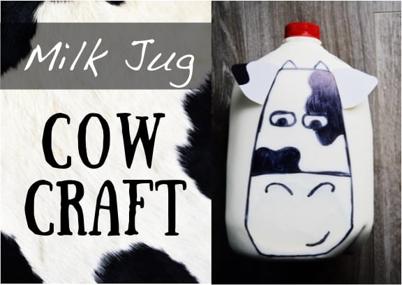 Milk jug cow craft