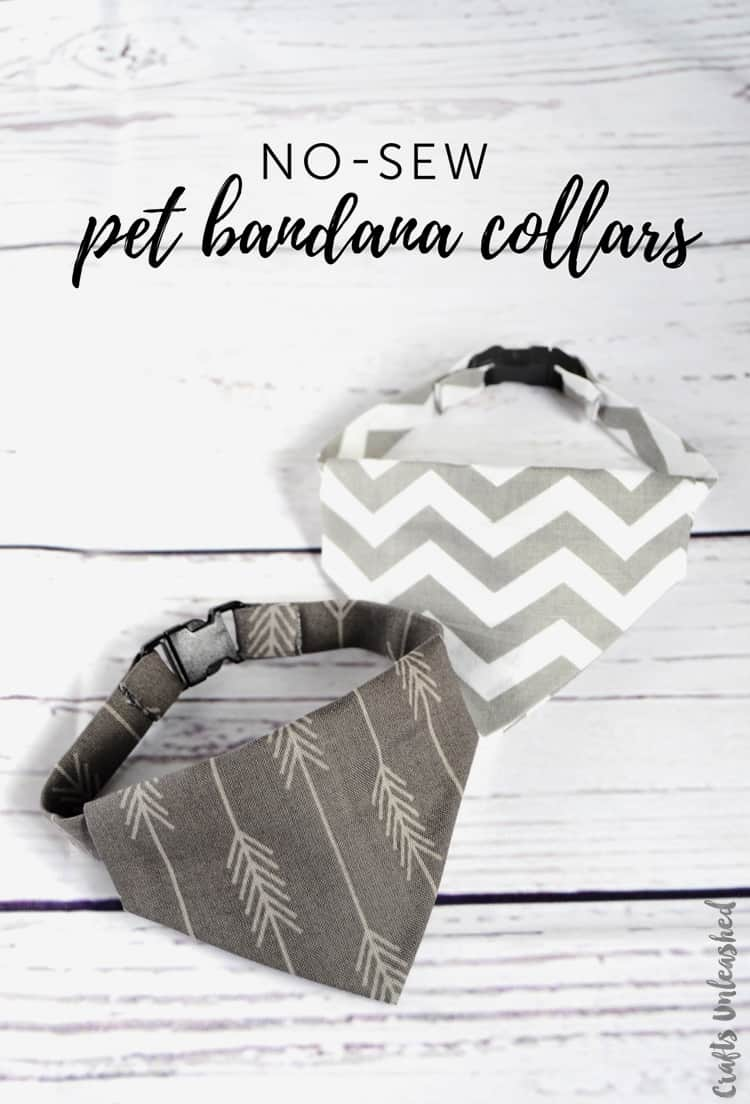 No sew pet bandana dog collars