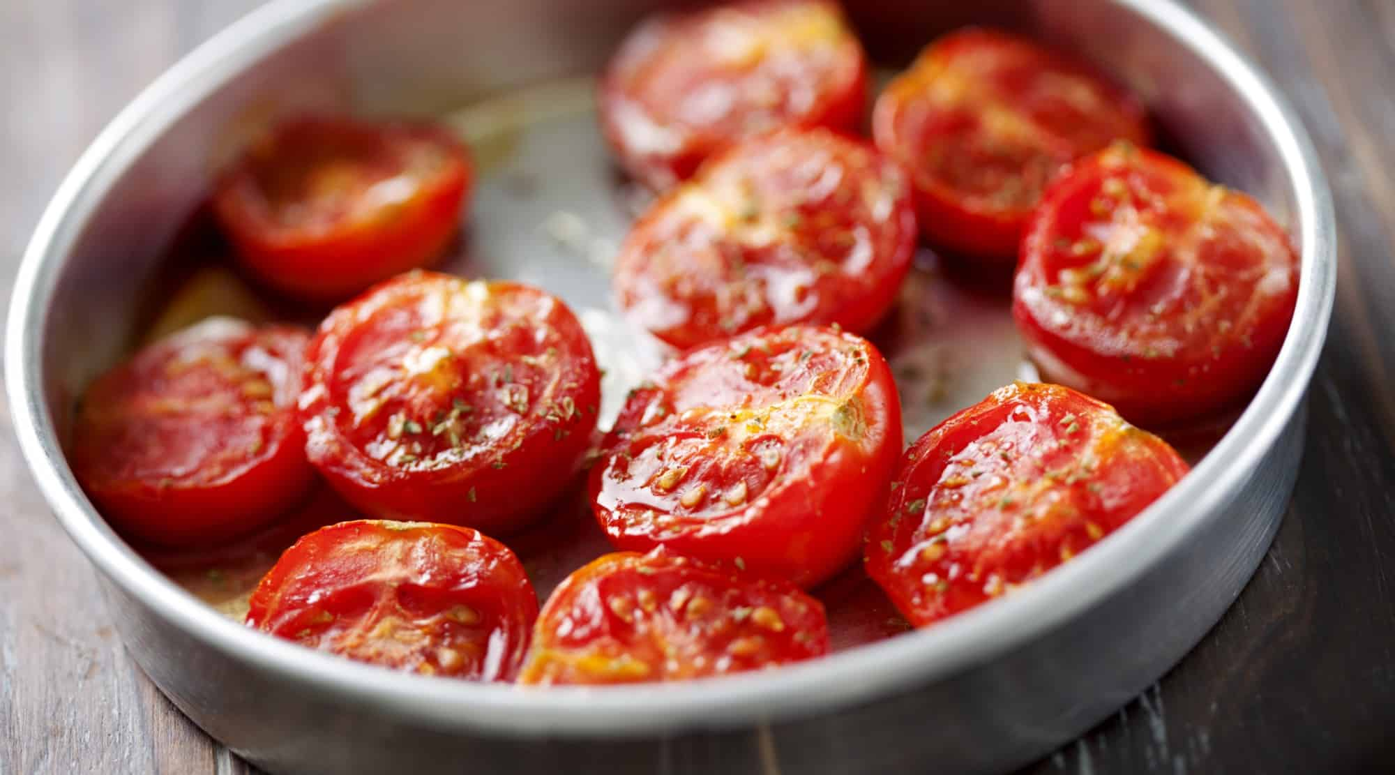 Oven candied summer tomatoes