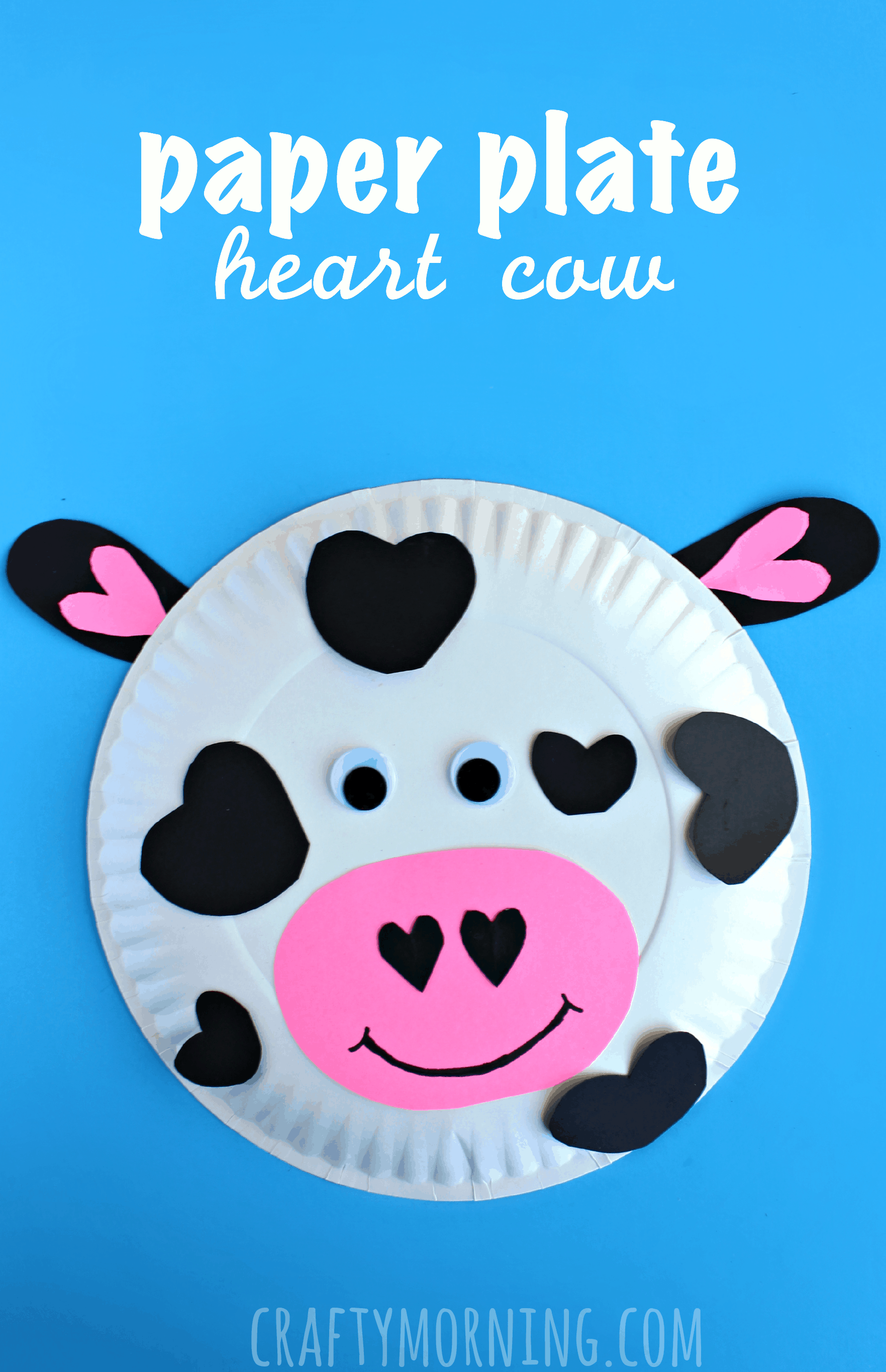 15 fantastic cow themed diy projects 1 paper plate heart cow solutioingenieria Gallery