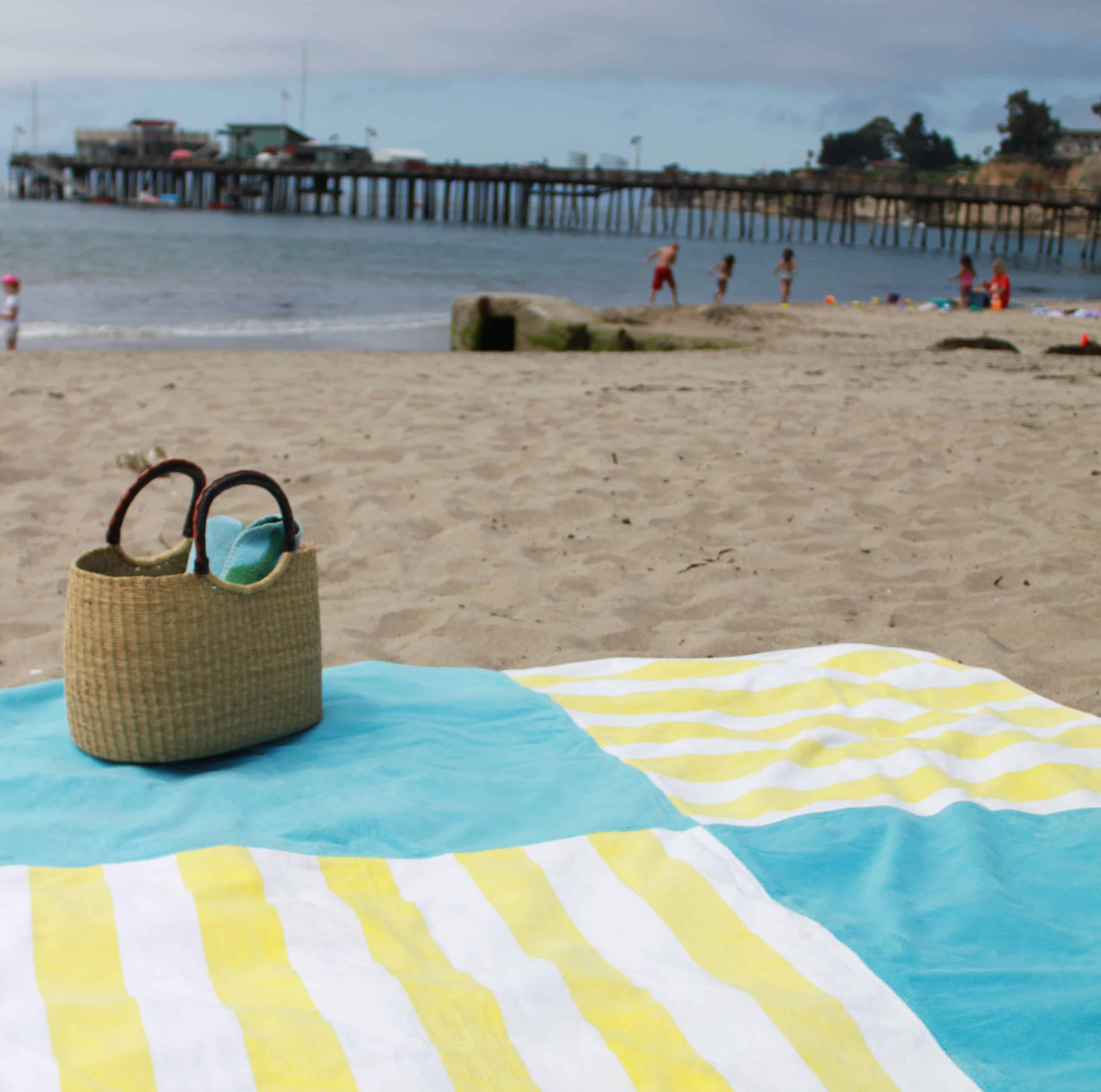 Patchwork towel beach blanket