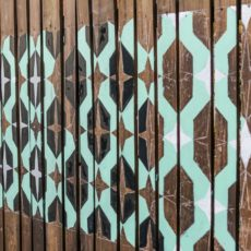Repeating paint stenciled patterns