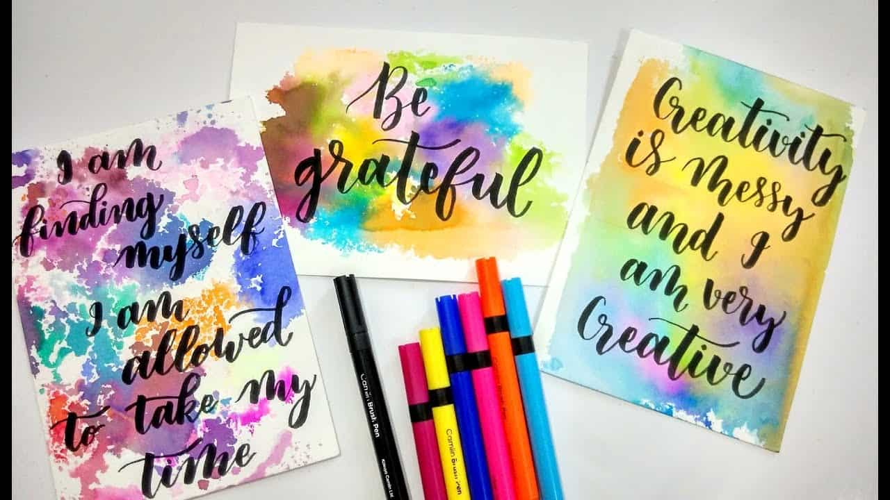 Unique water colour calligraphy art