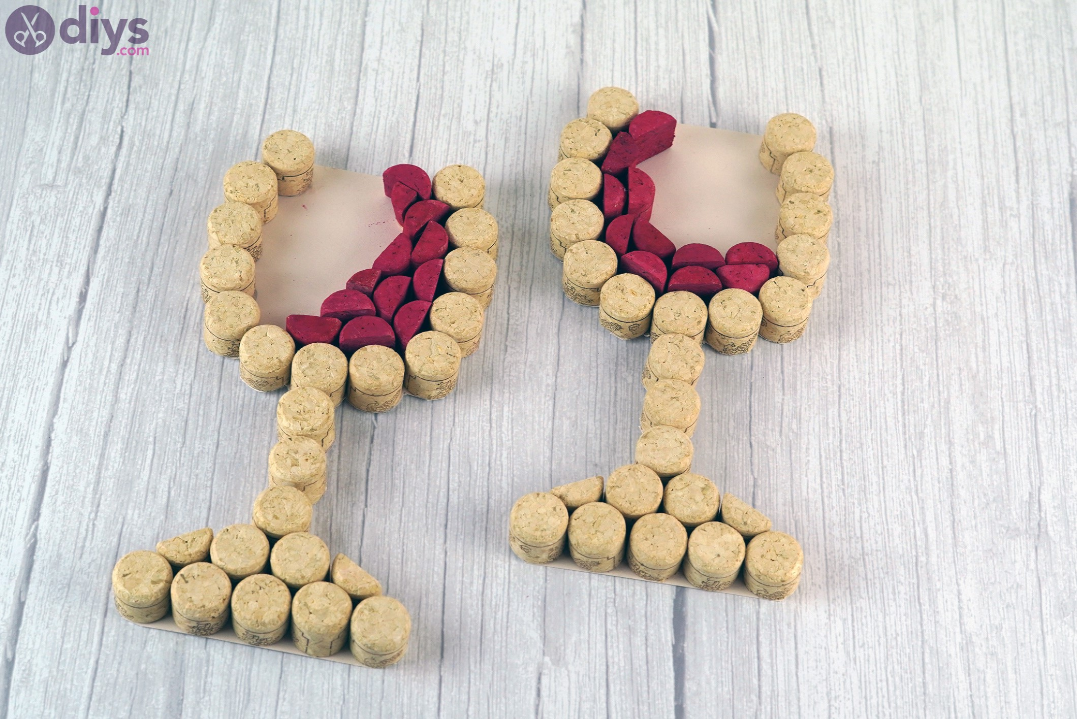 Wine cork wine glasses