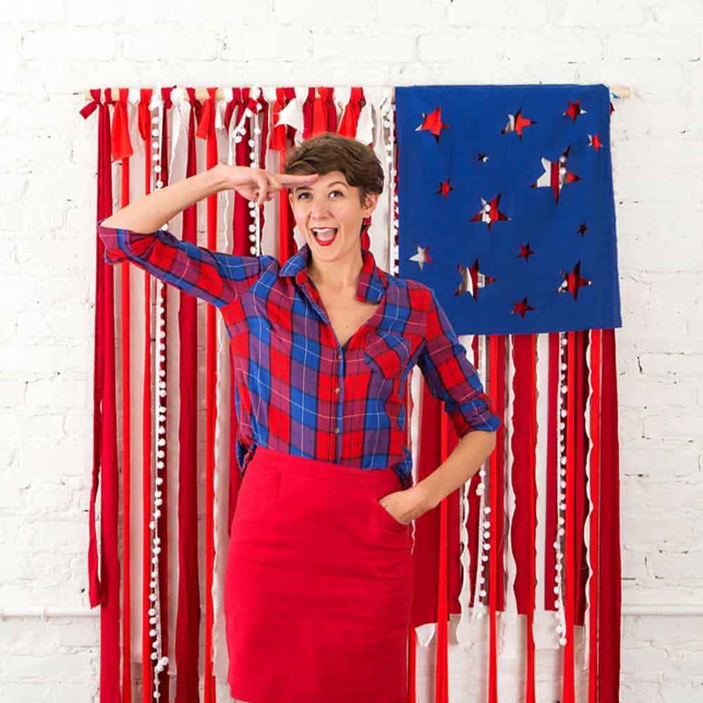 American flag backdrop diy