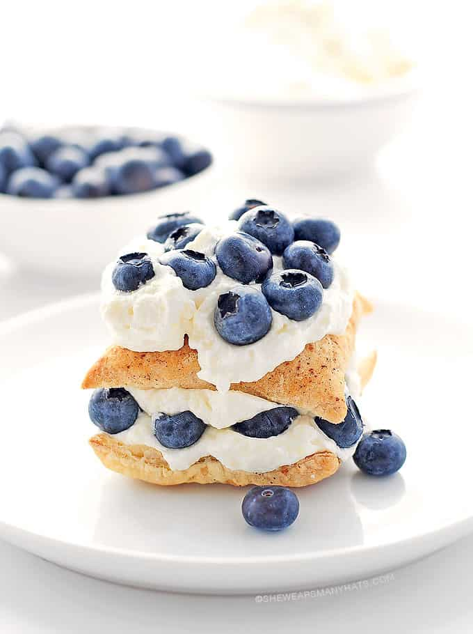 Blueberry lemon napoleon