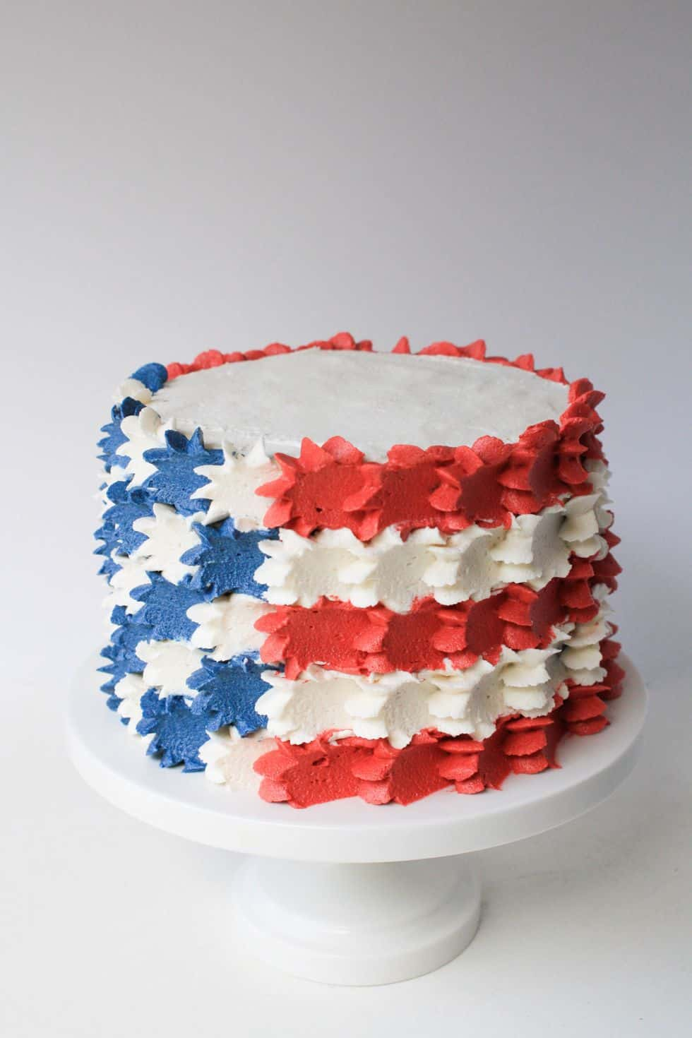 Buttercream stars and stripes cake