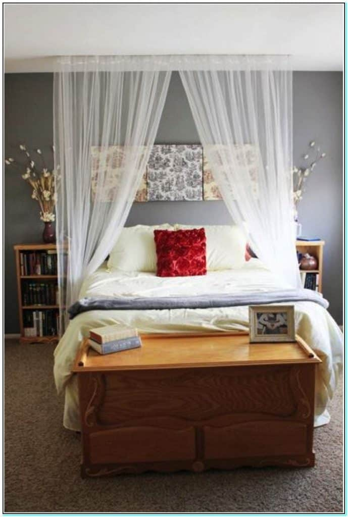 Diy affordable canopy bed