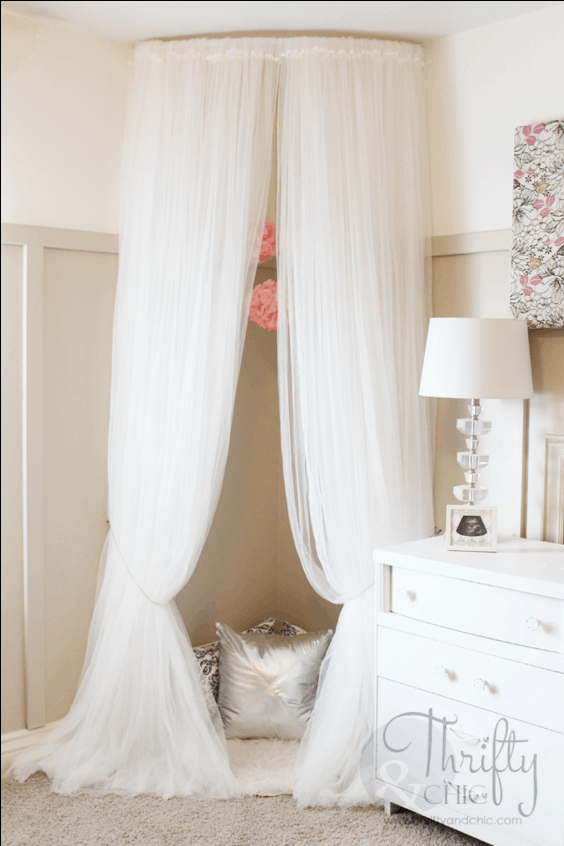 Diy canopy reading nook