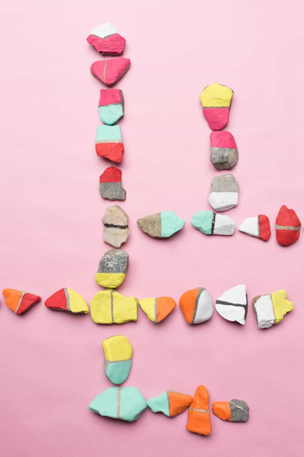 Diy color rock dominoes
