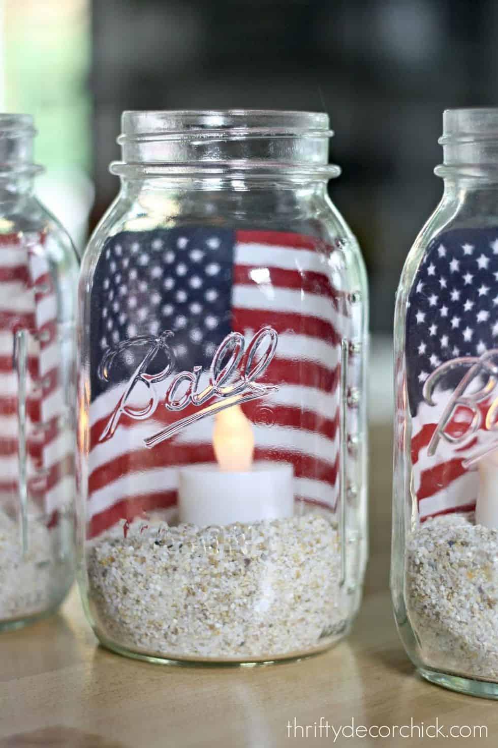 Diy flag lanterns