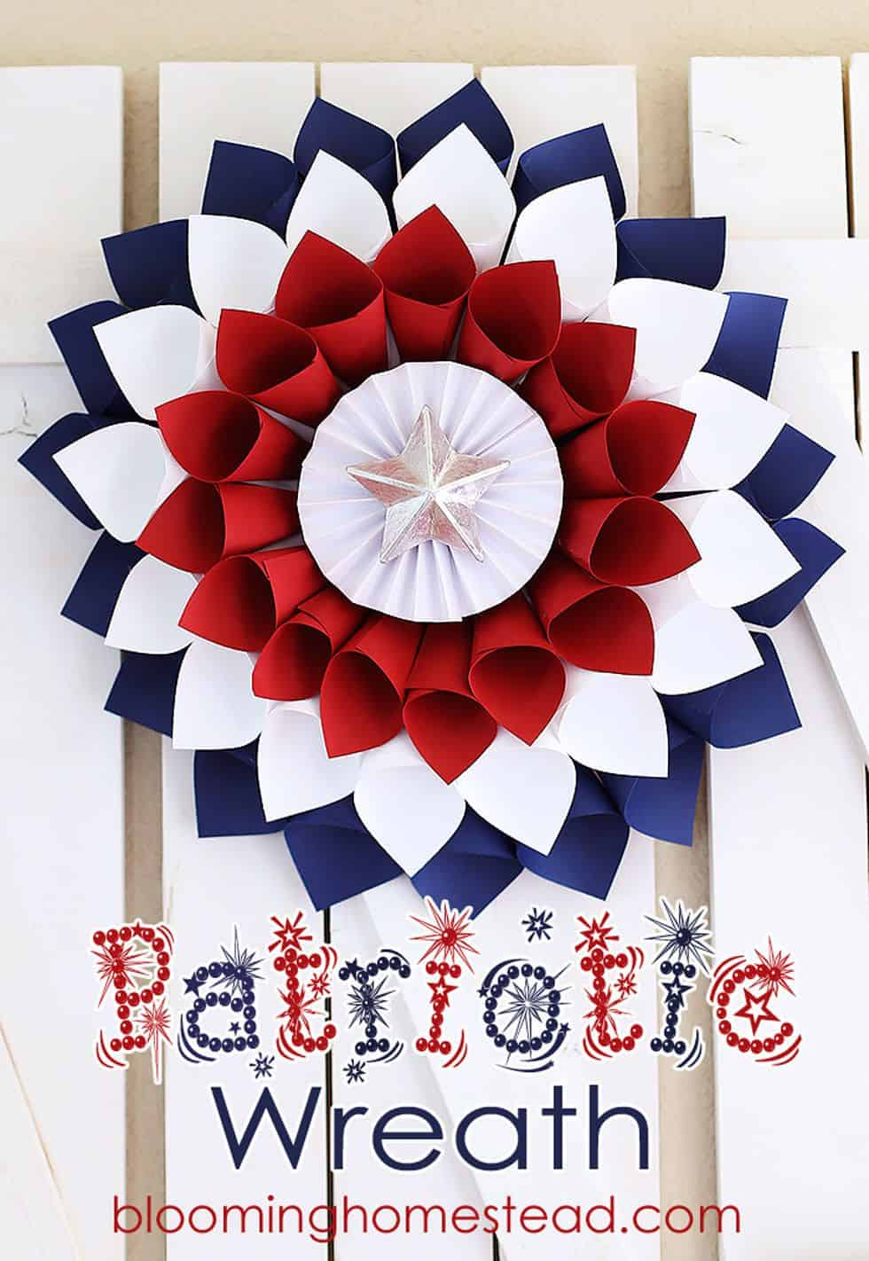 Diy july 4th pinwheel wreath