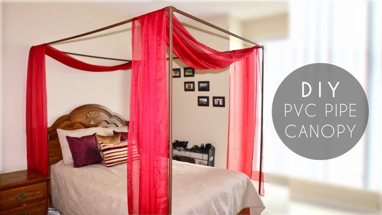 Diy pvc pipe bed canopy