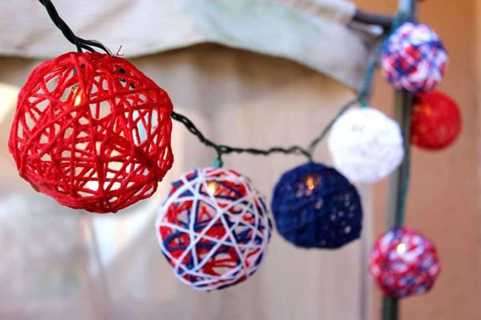 July 4th string light diy