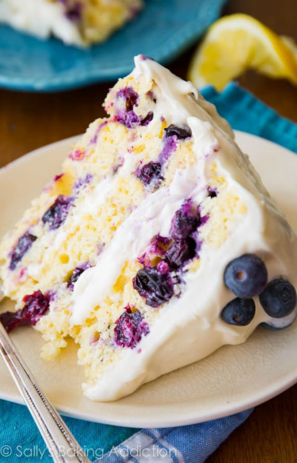 Lemon blueberry layer cake 2