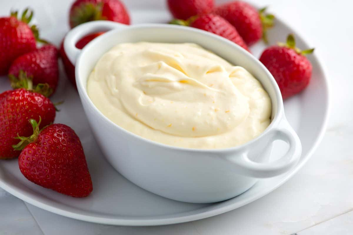 Orange cream fruit dip recipe