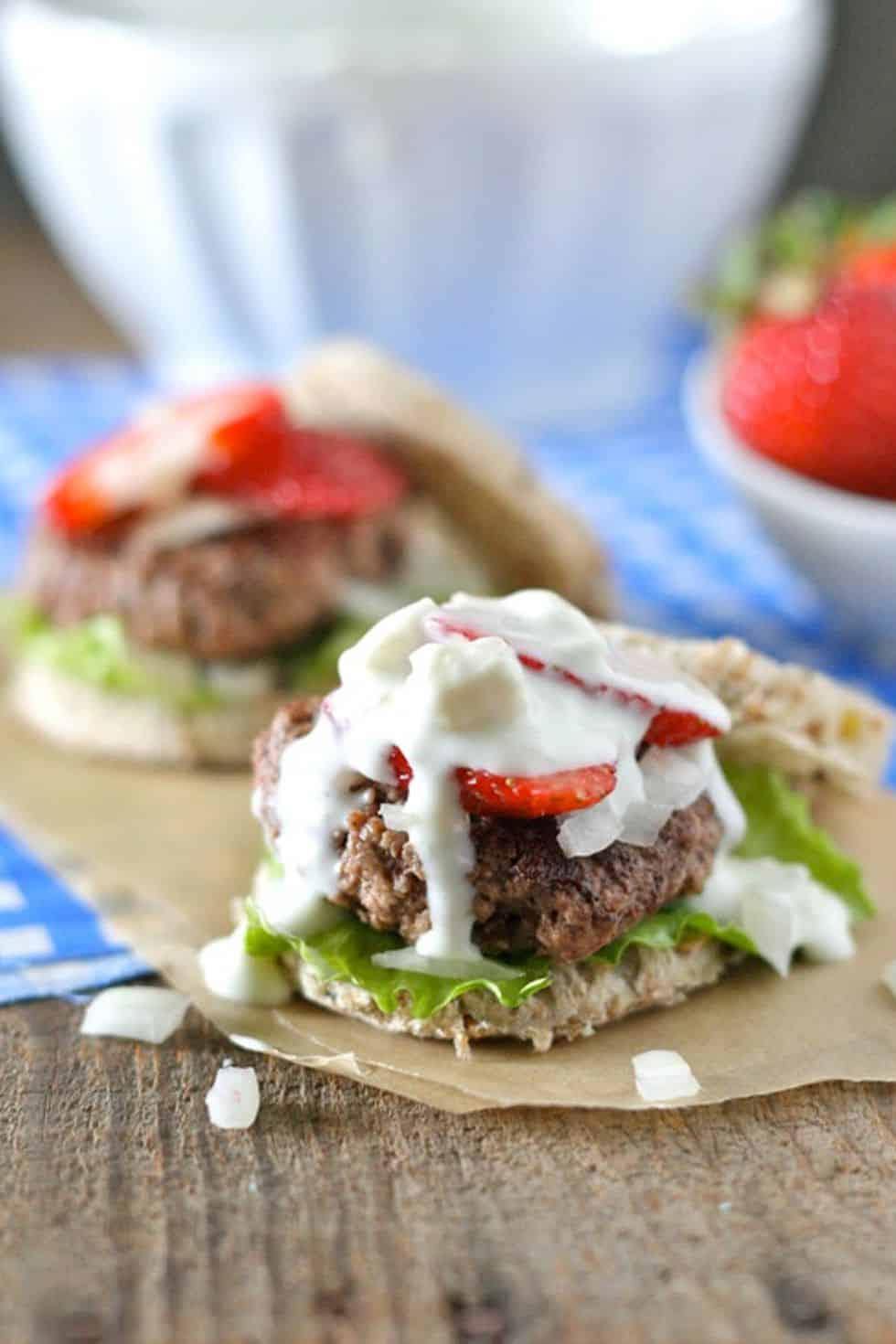 Red white blue sliders recipe