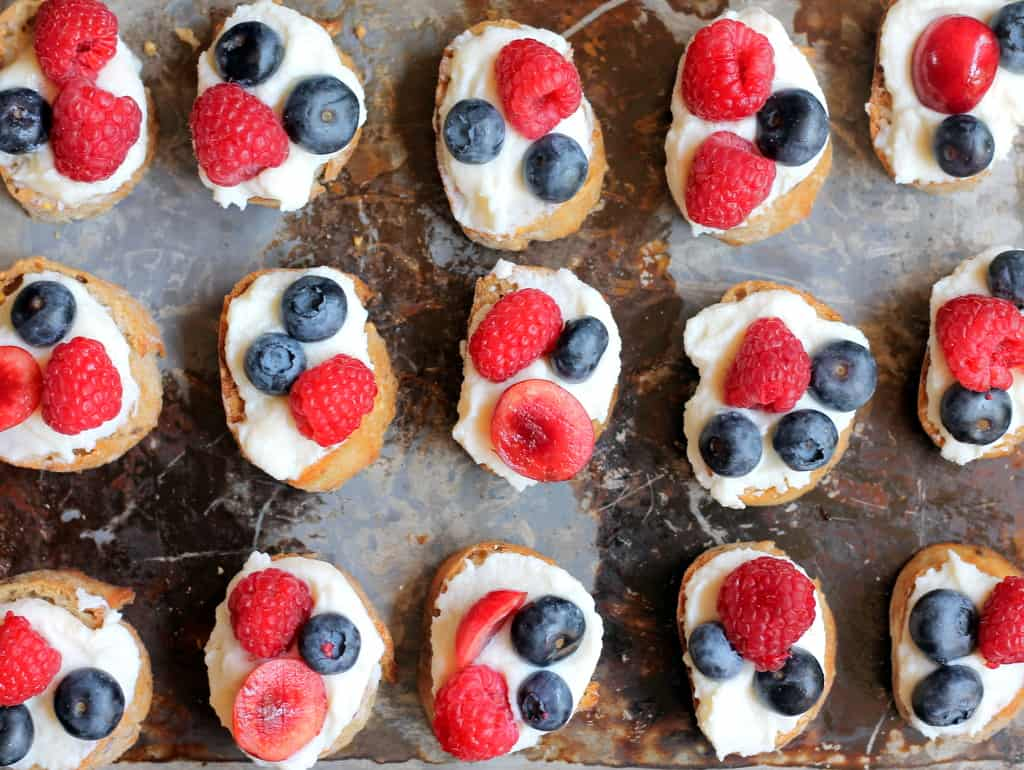 Summer berry crostini recipe