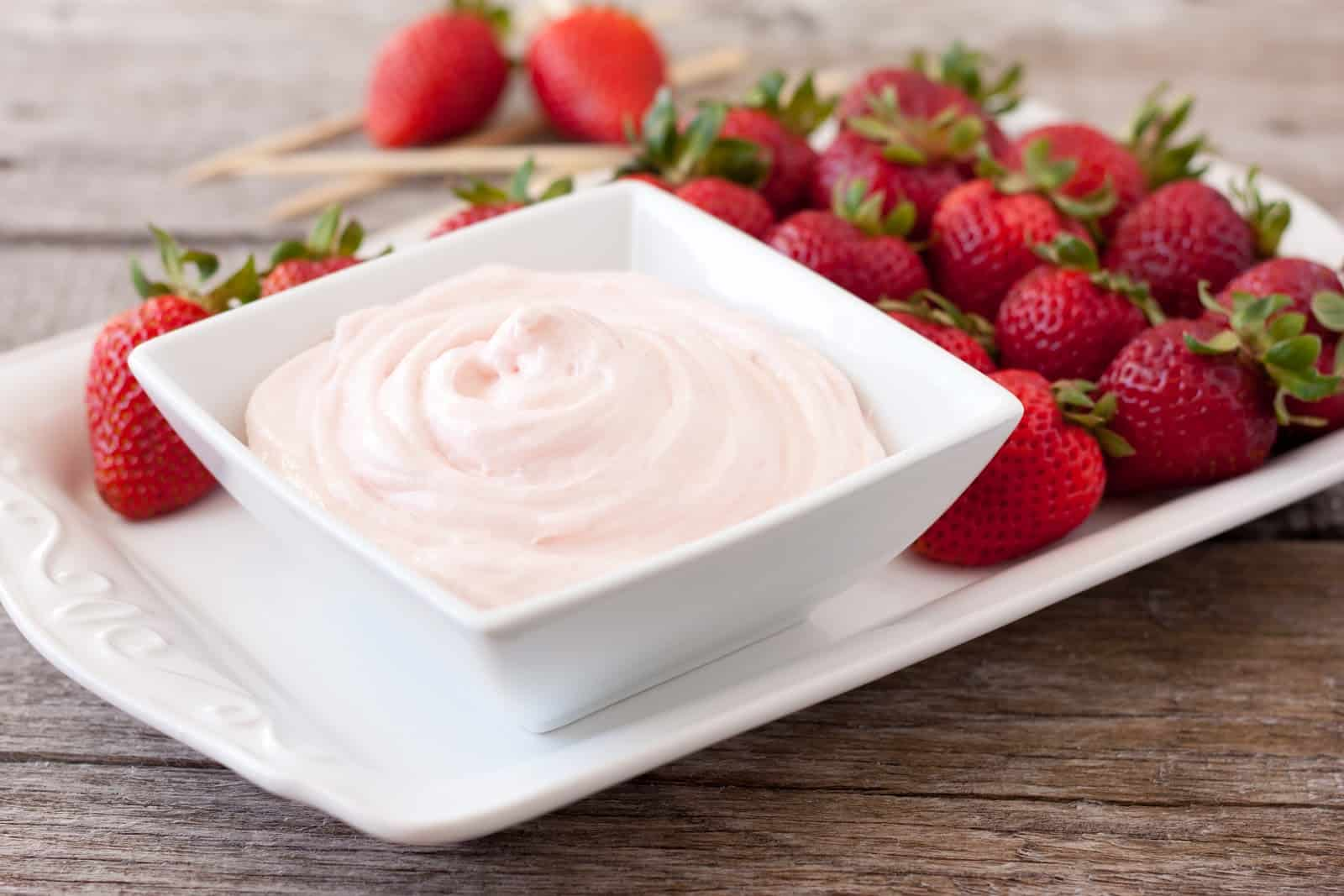 Two ingredient fruit dip recipe