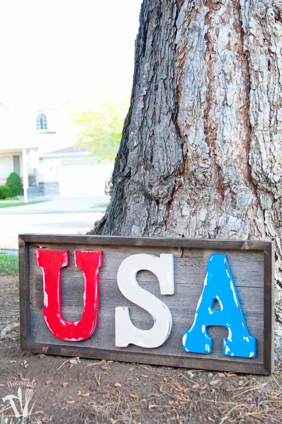 Usa rustic sign