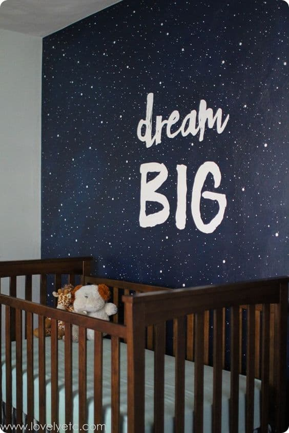 Dream big galaxy wall