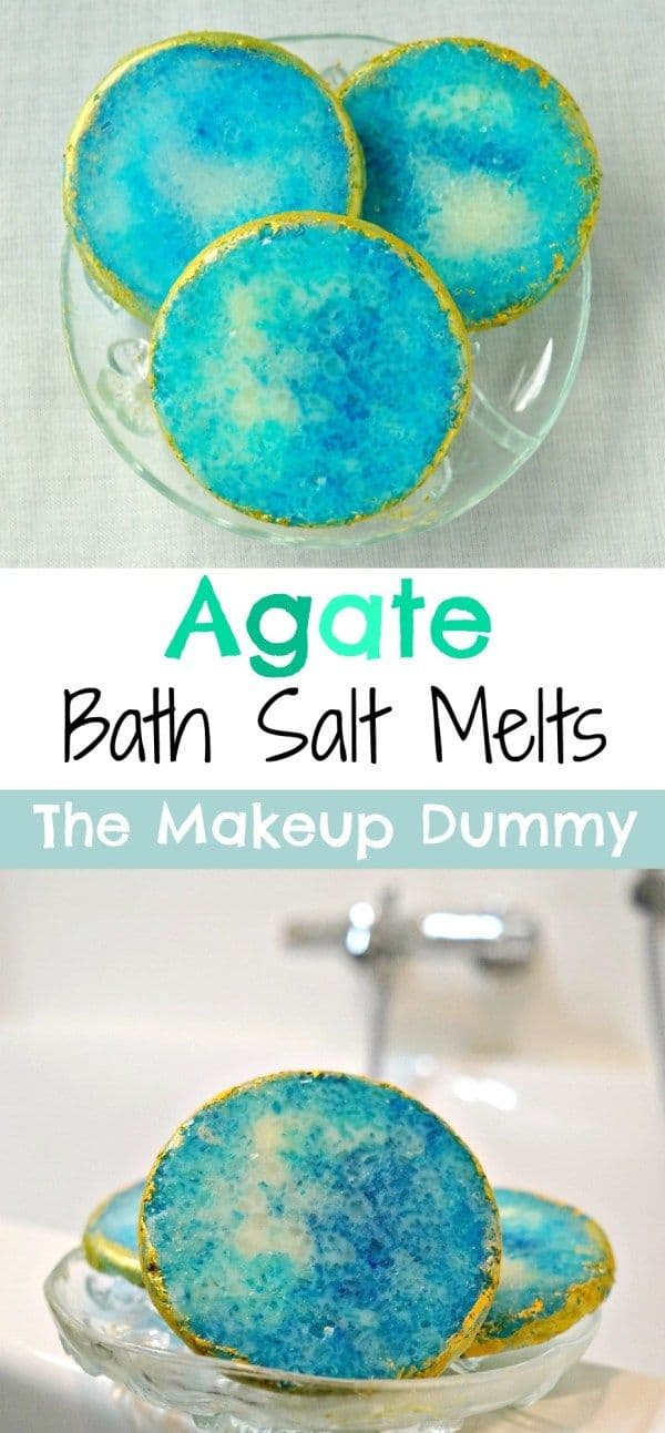 Agate bath salt melts