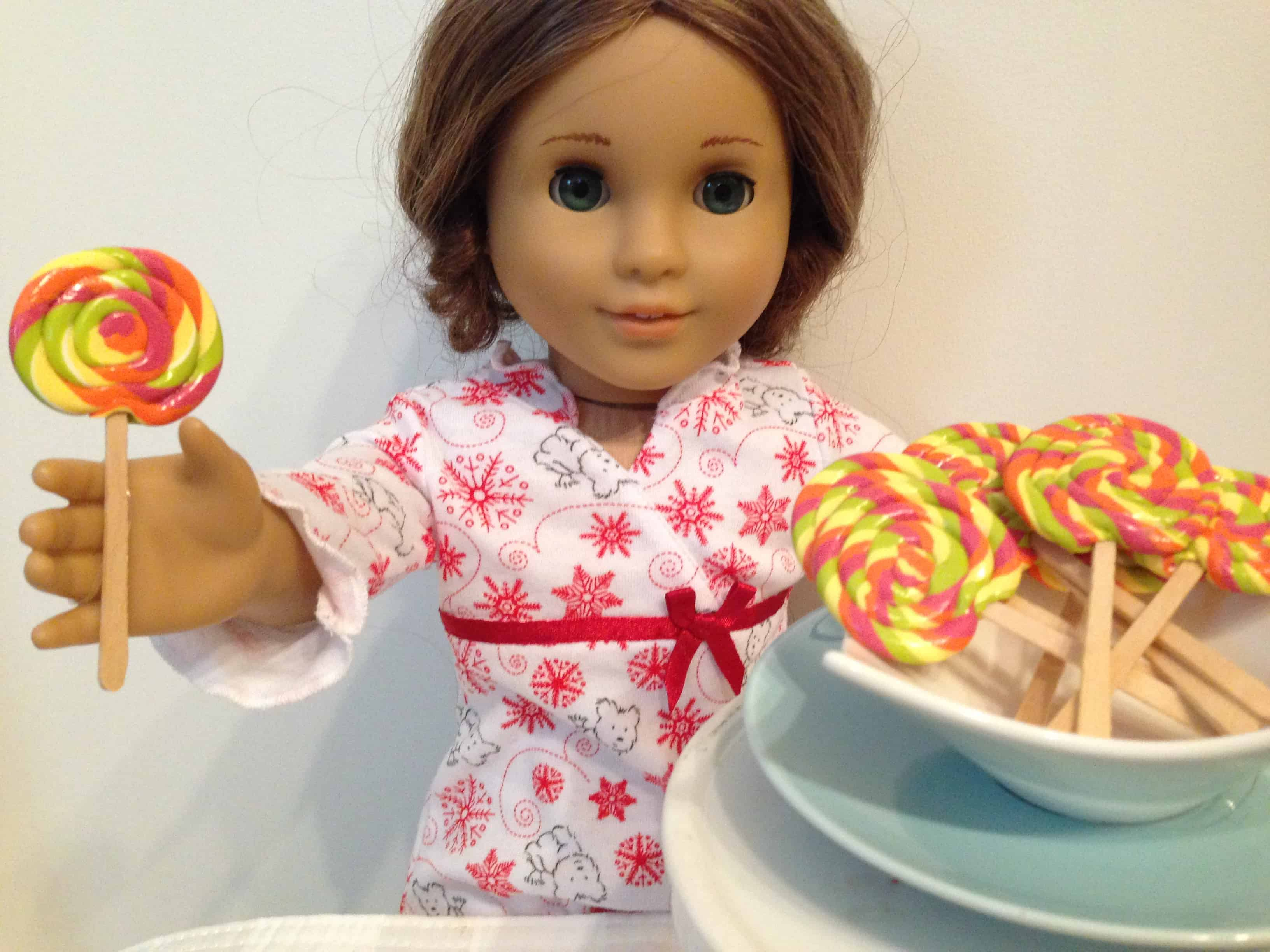 American girl doll lollipops
