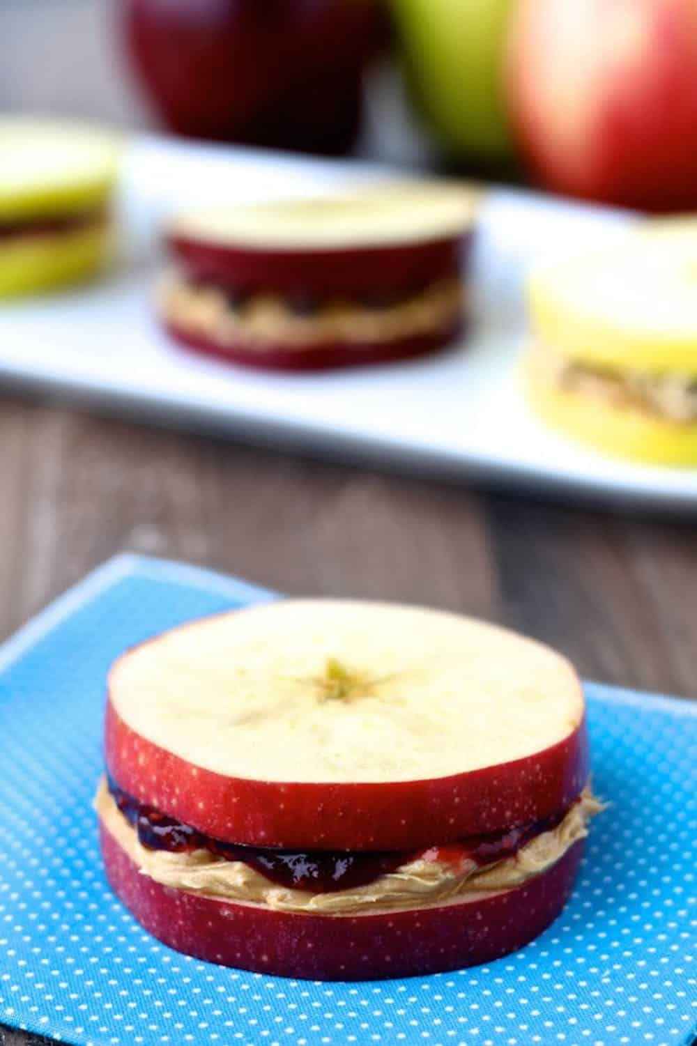 Apple pb&j sandwich