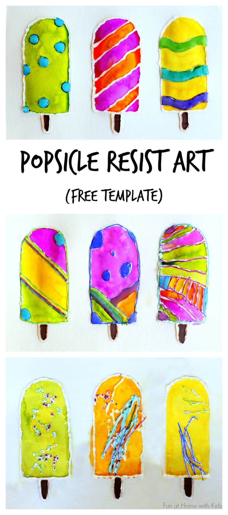 Awesome popsicle resist art
