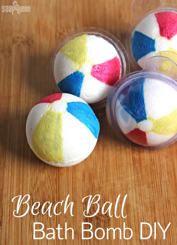 Beach ball bath bombs