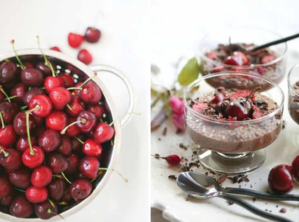 Chocolate cherry pudding