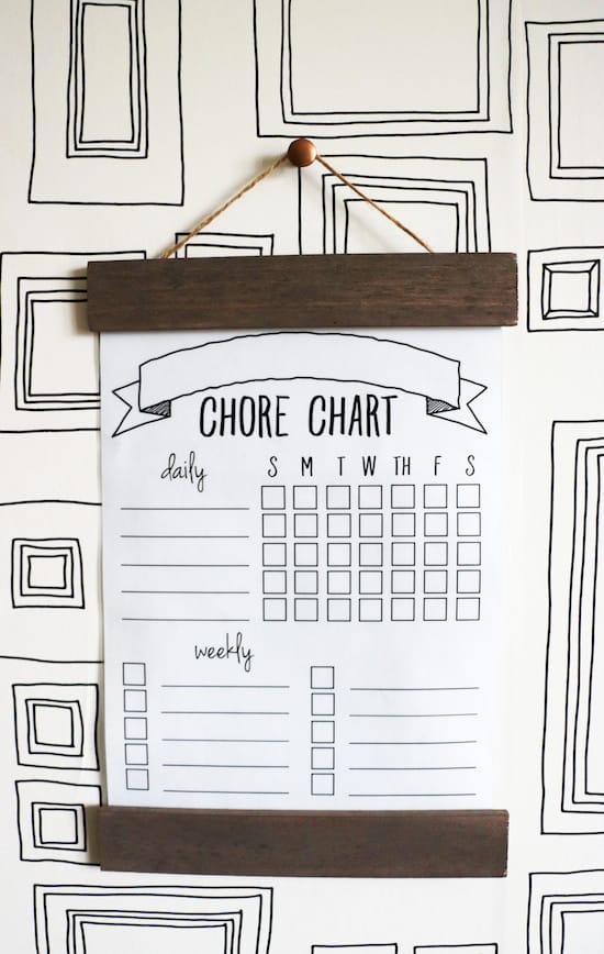 Chore chart diy minimal style