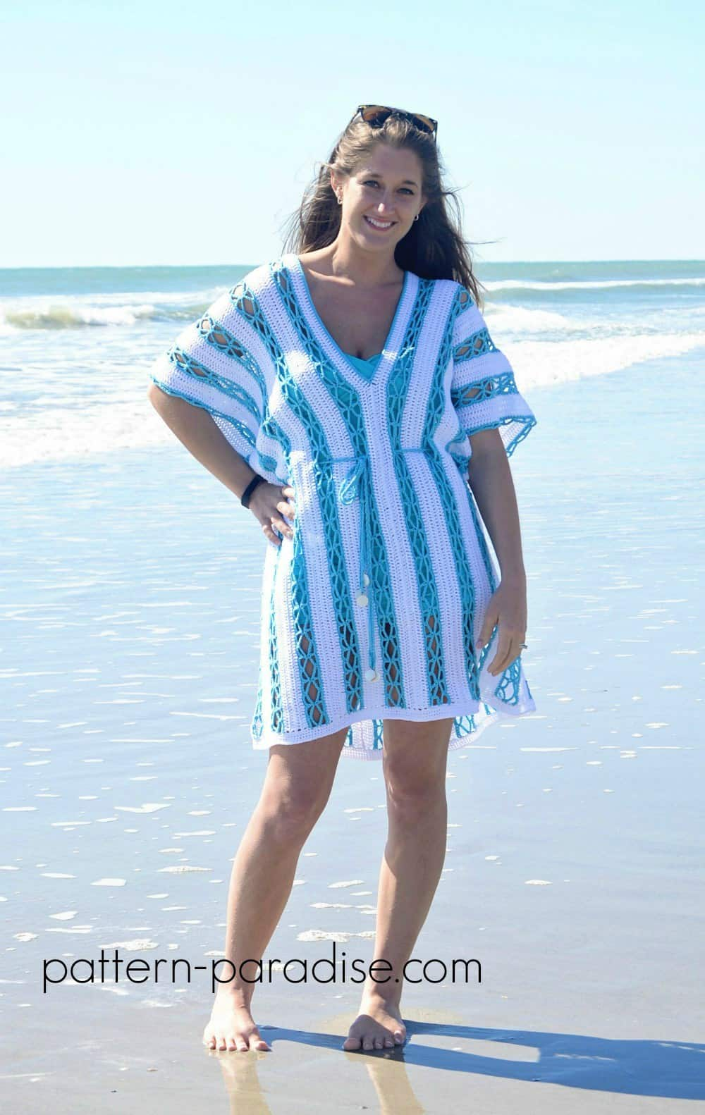 Crocheted beach tunic