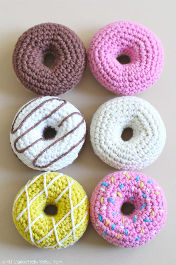 Cute crocheted donuts
