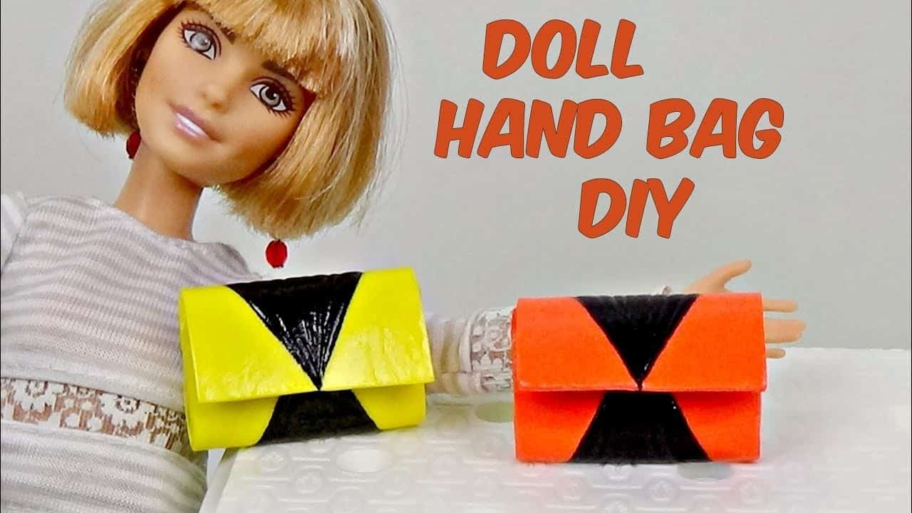 Diy doll hand bag