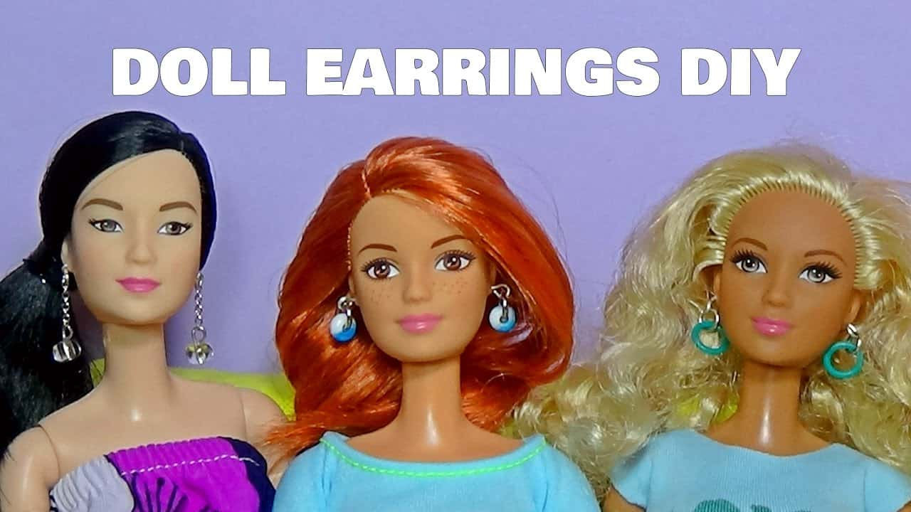Diy earrings for dolls