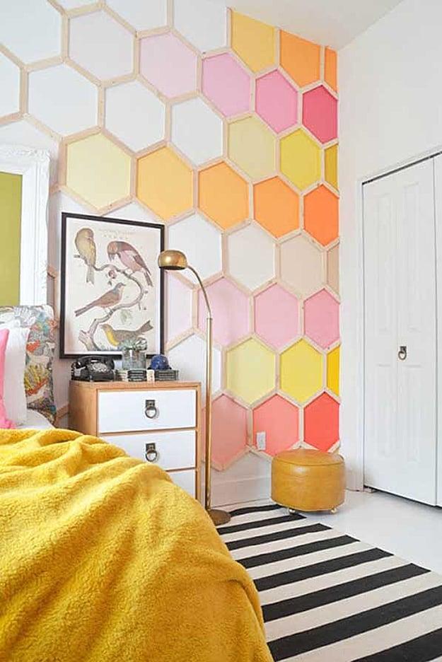 Diy honey comb wall