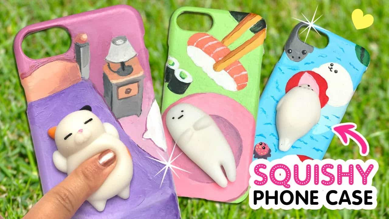 Diy kawaii squishy phone case