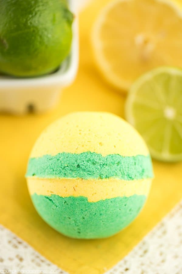 Diy lemon lime bath bombs