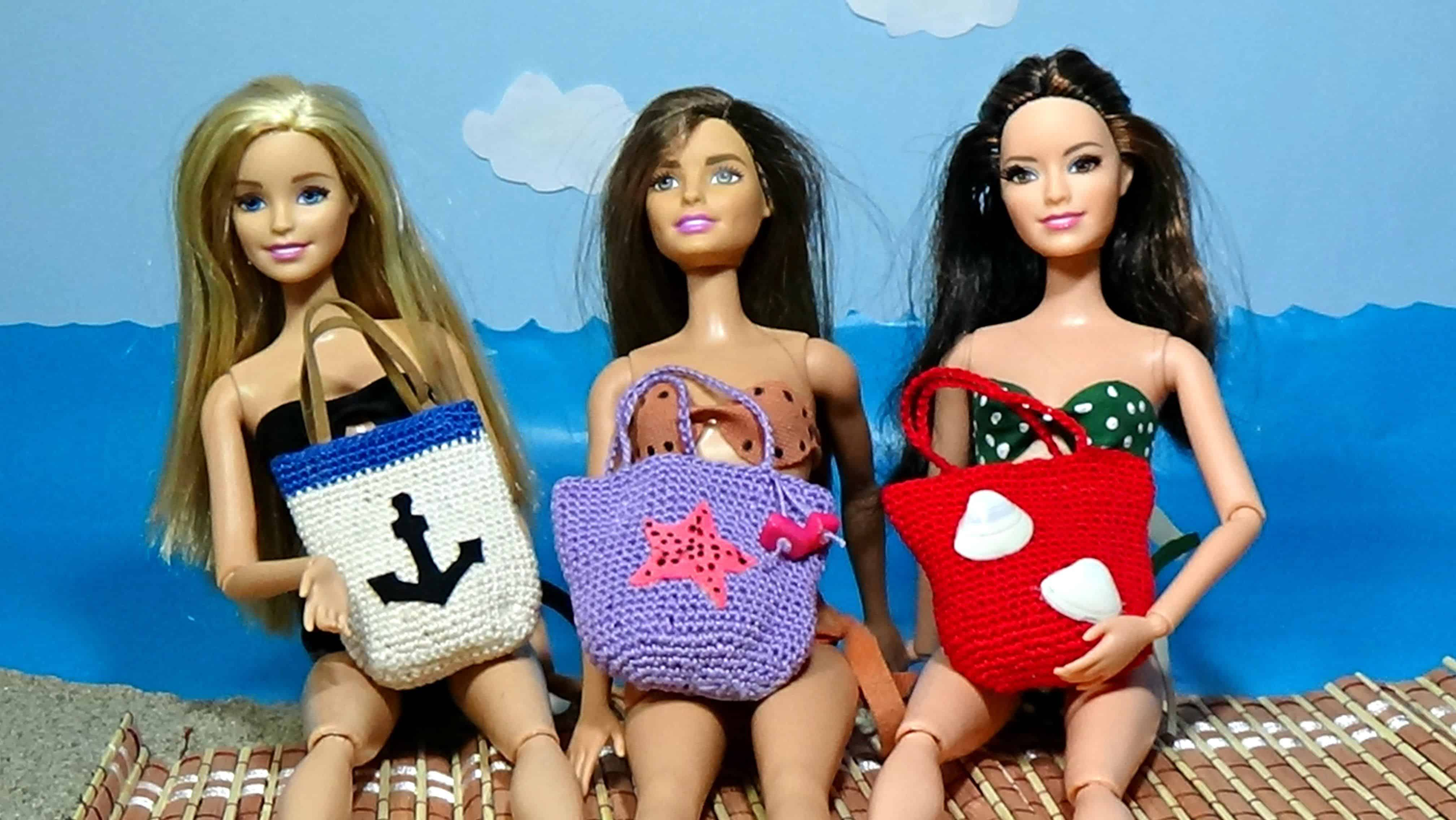 Doll beach bags