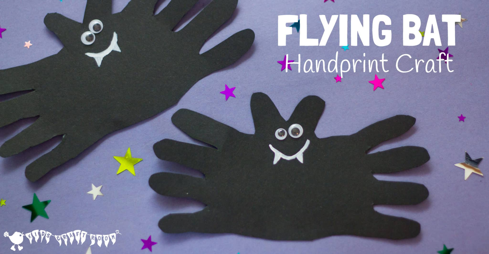 Flying bat handprint craft