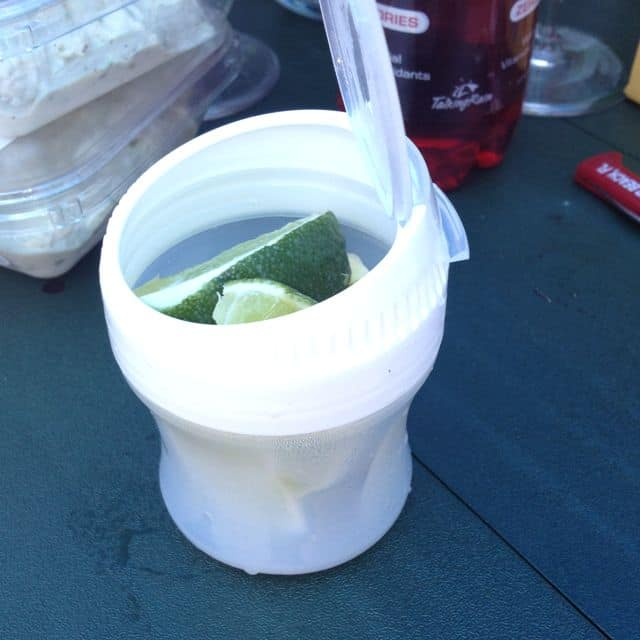 Fresh limes container