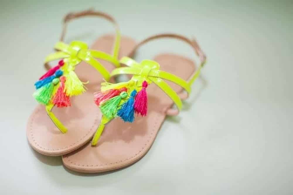 Fun tasseled sandals