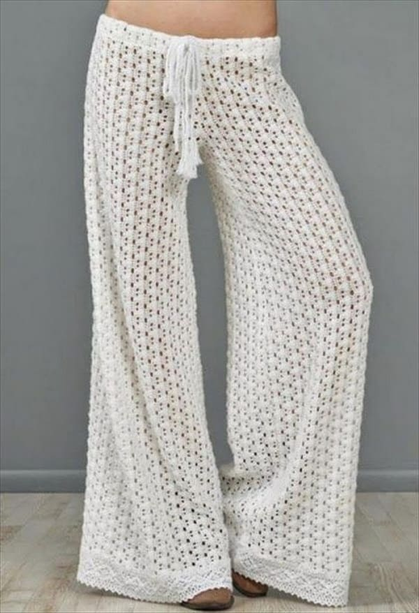 Funky crocheted summer pants