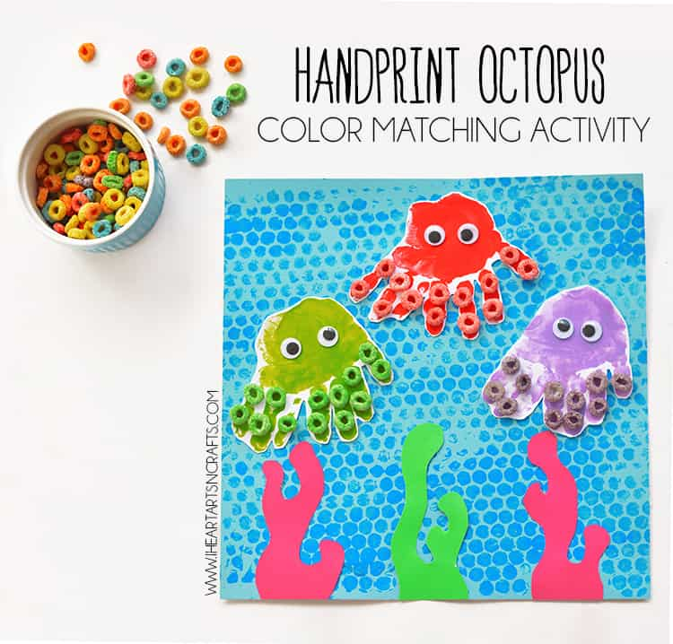 Handprint and cereal octopus