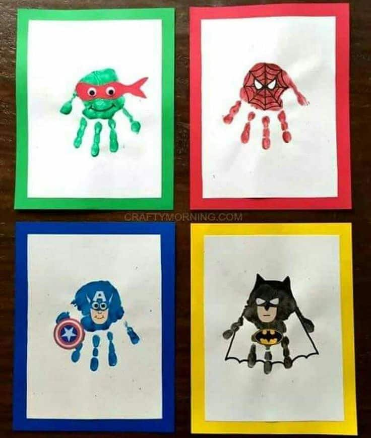 Handprint superheroes