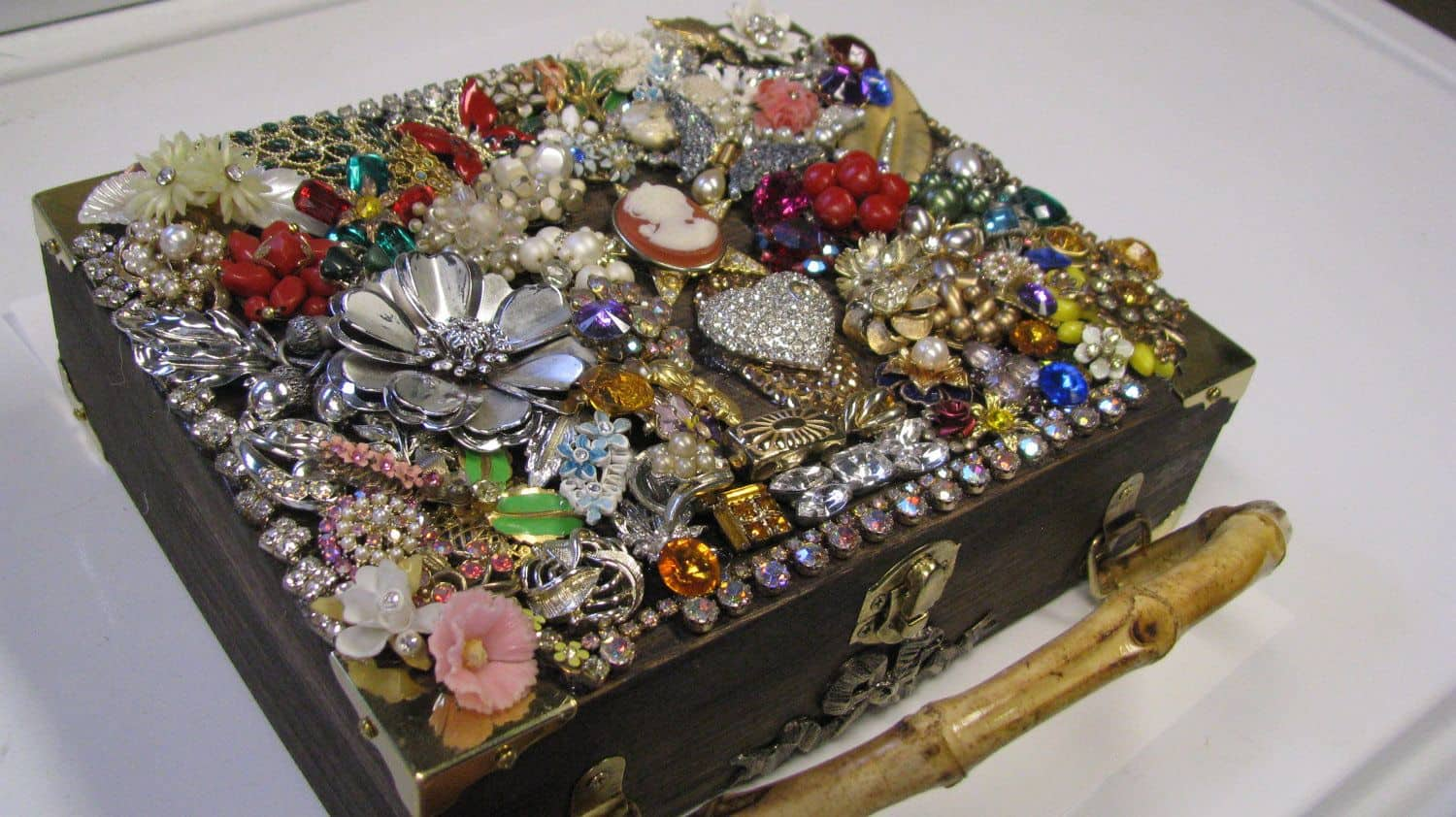 Jewelry encrusted box